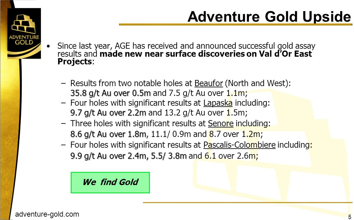 Adventure Gold Upside