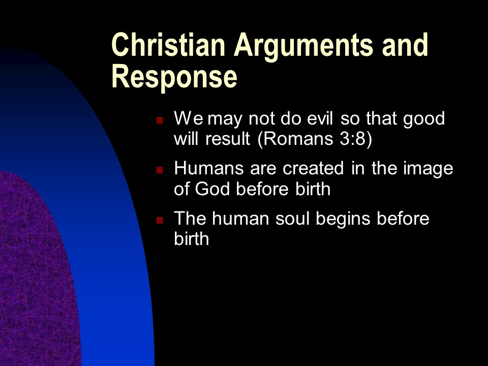 Christian Arguments and Response