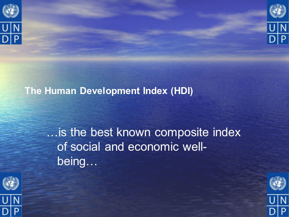 …is the best known composite index of social and economic well-being…