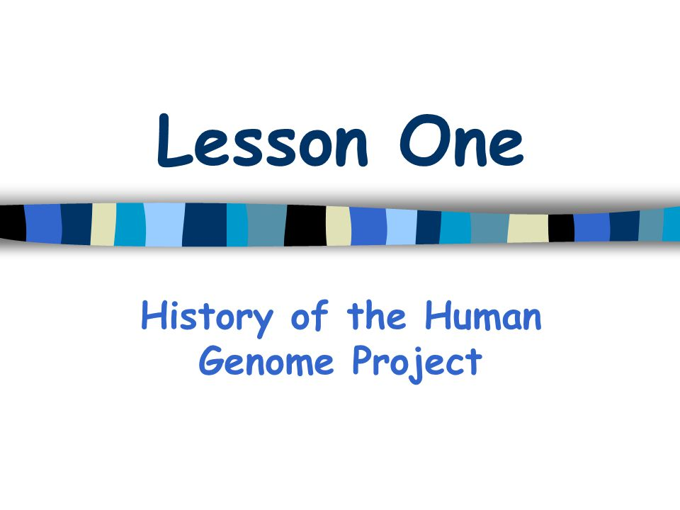 History of the Human Genome Project