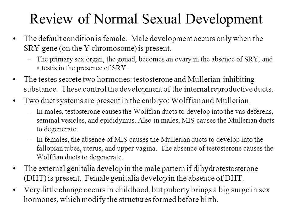 Review of Normal Sexual Development