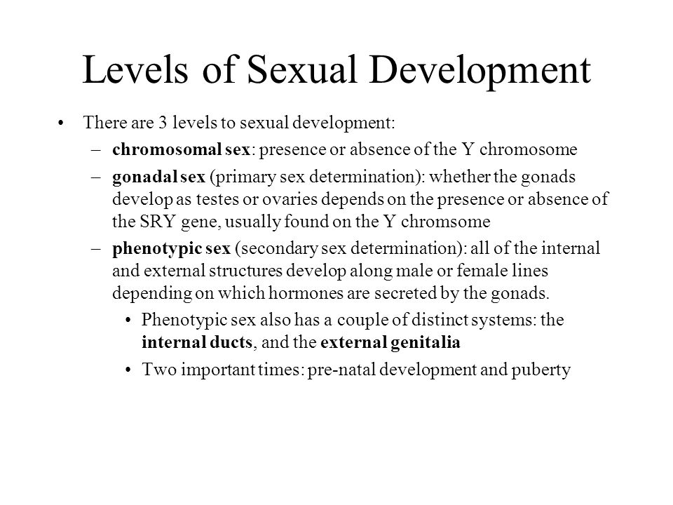 Levels of Sexual Development