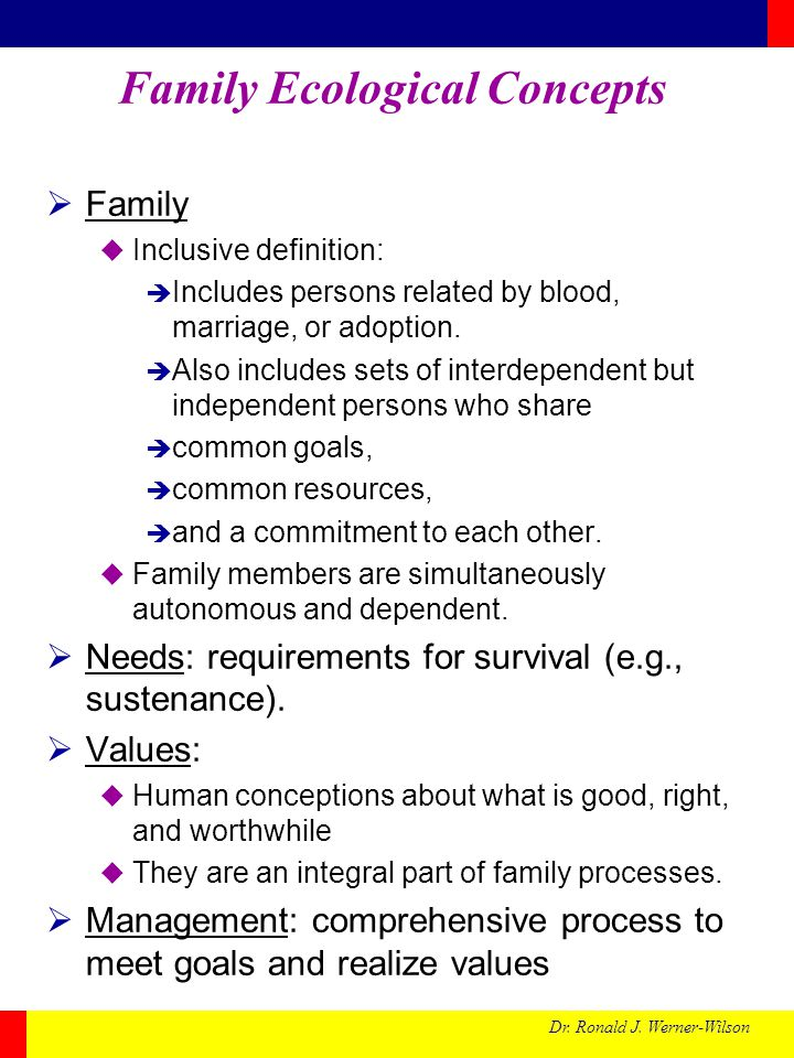 Family Ecological Concepts