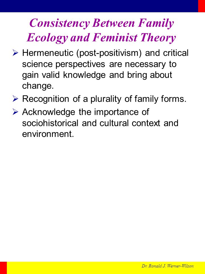 Consistency Between Family Ecology and Feminist Theory