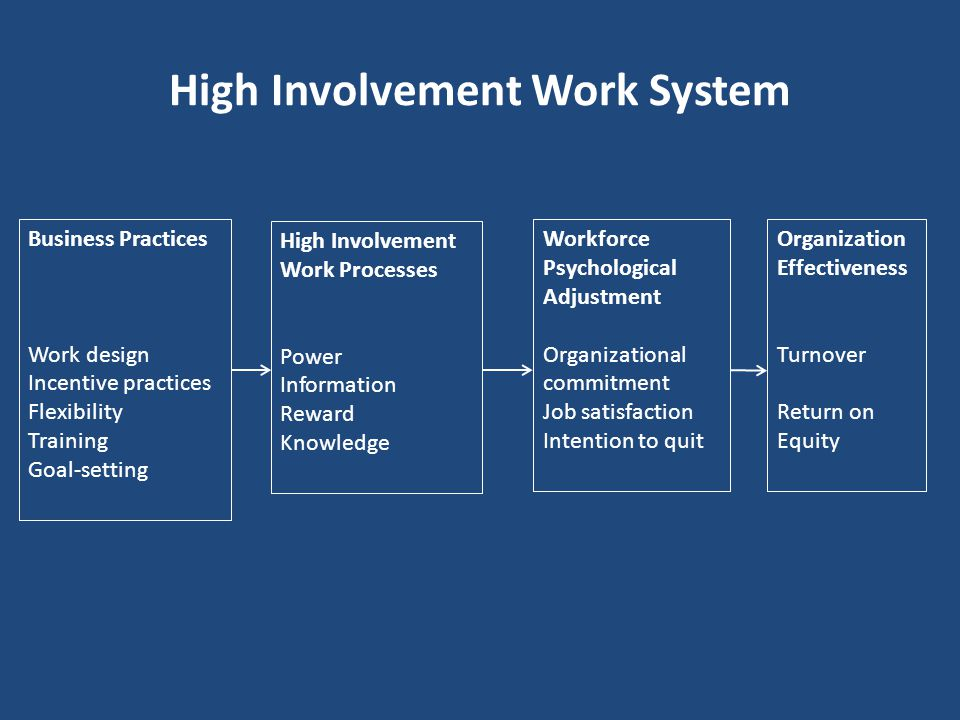 High Involvement Work System
