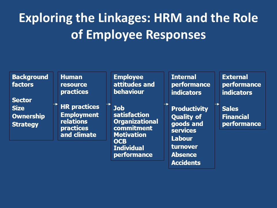 Exploring the Linkages: HRM and the Role of Employee Responses