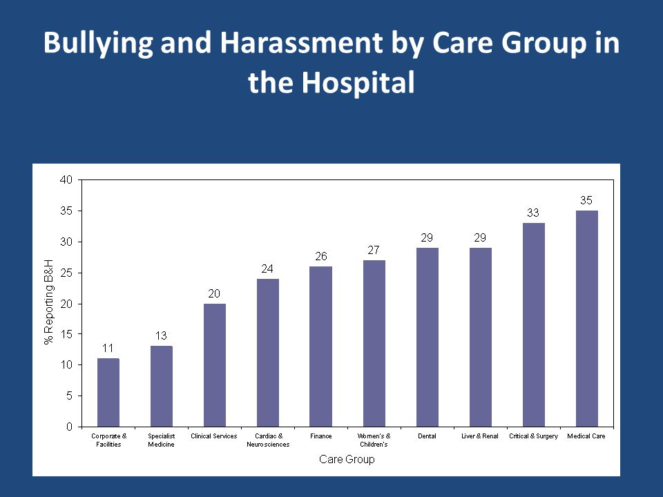 Bullying and Harassment by Care Group in the Hospital