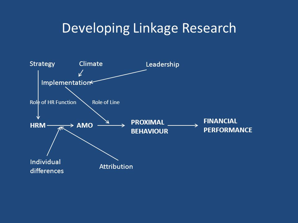 Developing Linkage Research