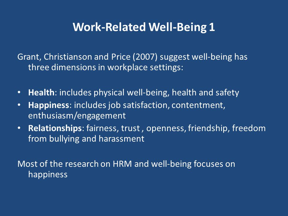 Work-Related Well-Being 1