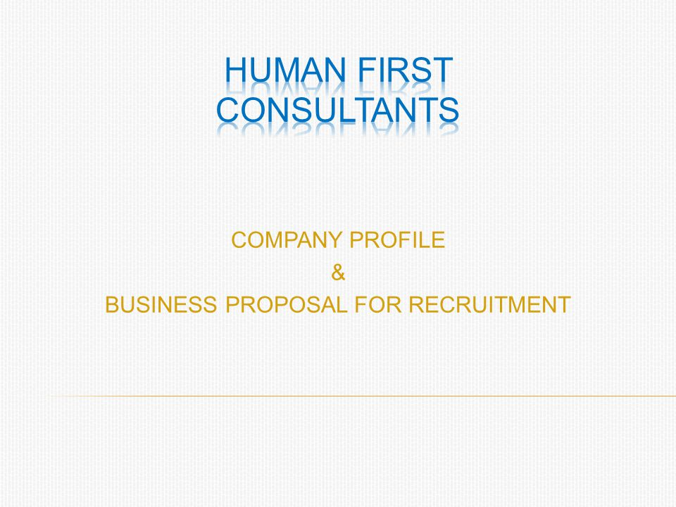 HUMAN FIRST CONSULTANTS
