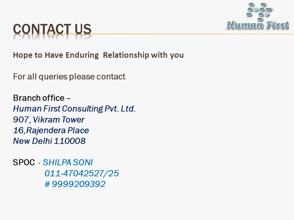 Contact US Hope to Have Enduring Relationship with you