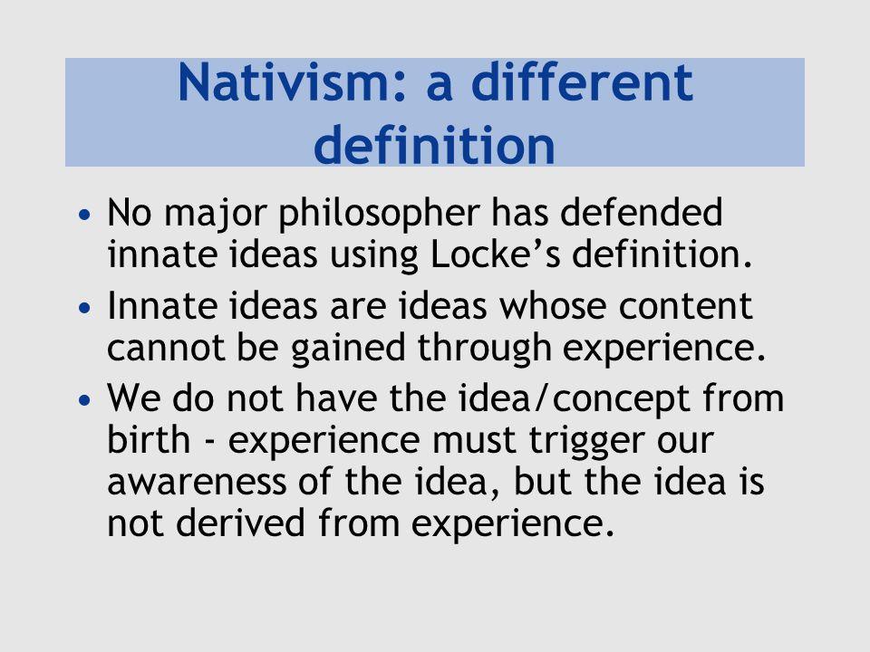 Nativism: a different definition