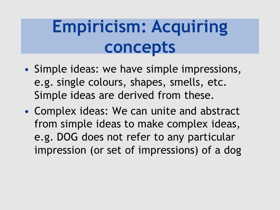 Empiricism: Acquiring concepts