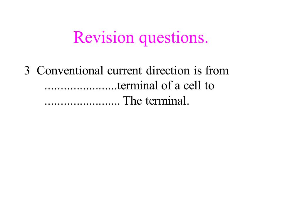Revision questions.