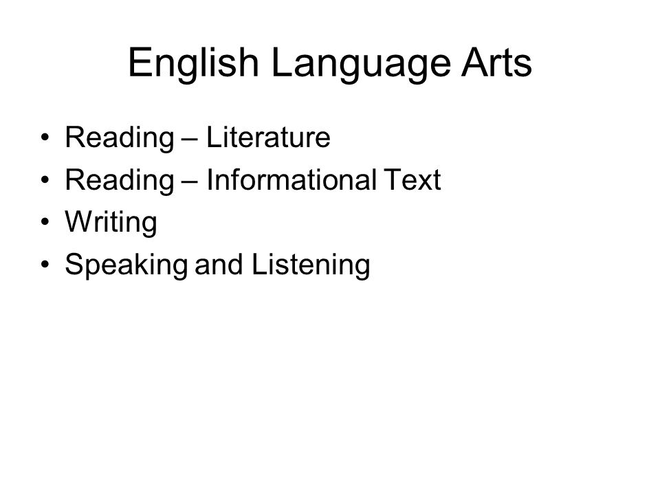 English Language Arts Reading – Literature