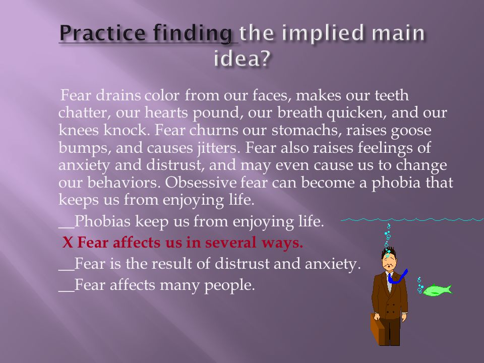 Practice finding the implied main idea