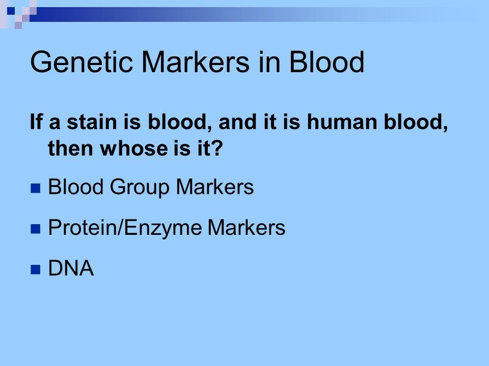 Genetic Markers in Blood