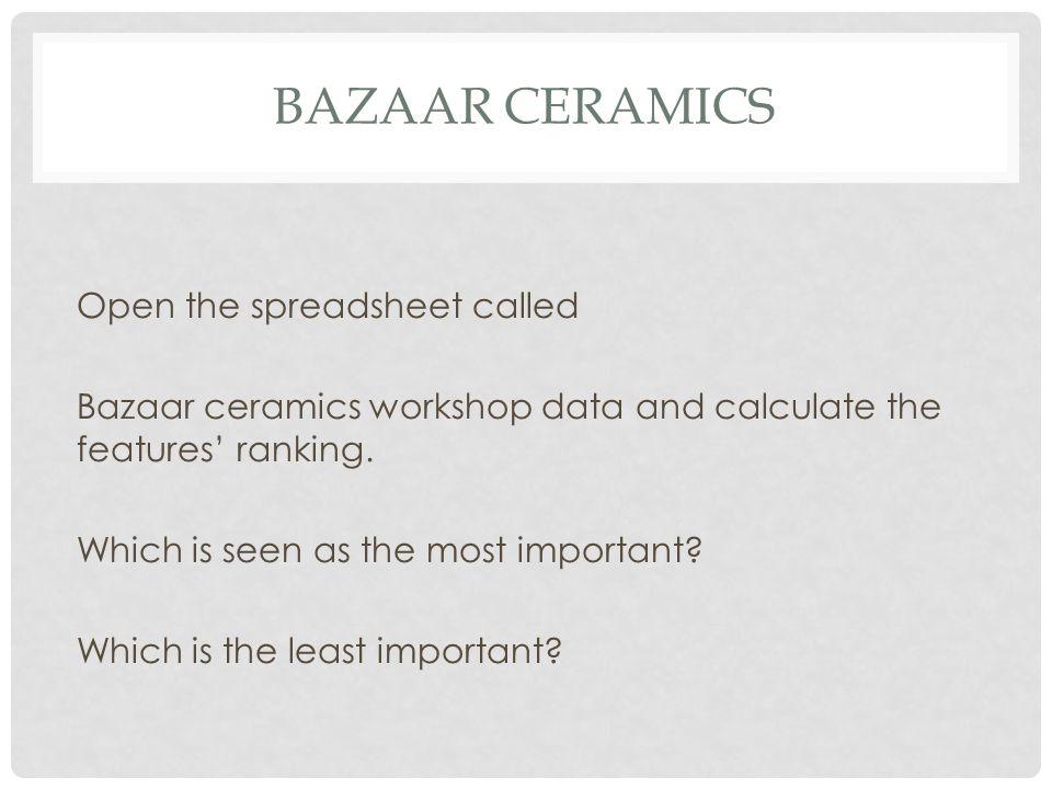 Bazaar ceramics