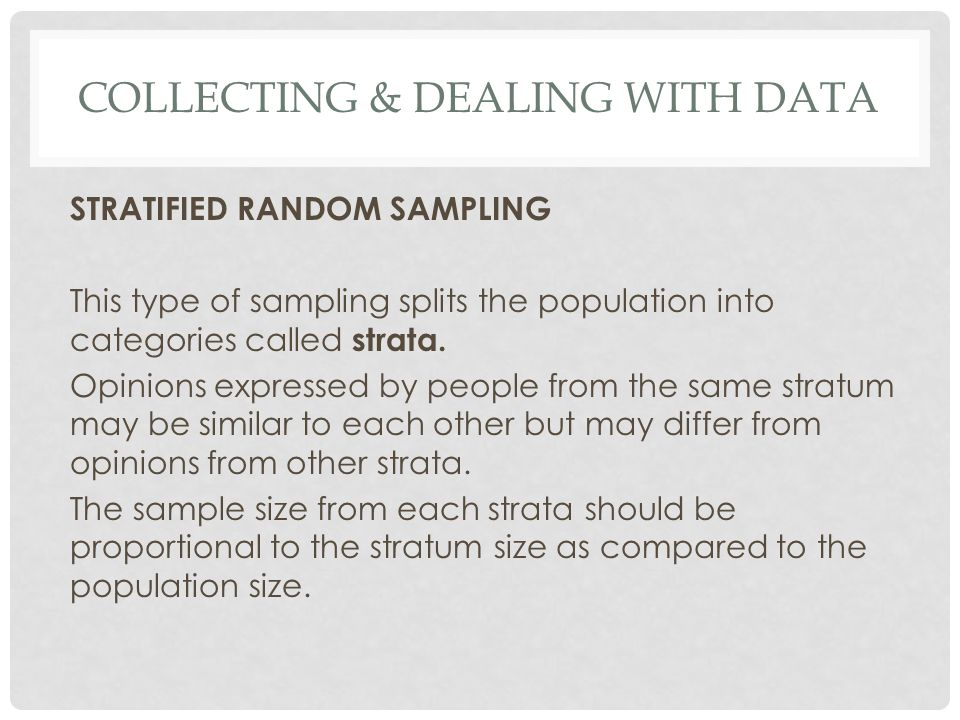 Collecting & Dealing with data