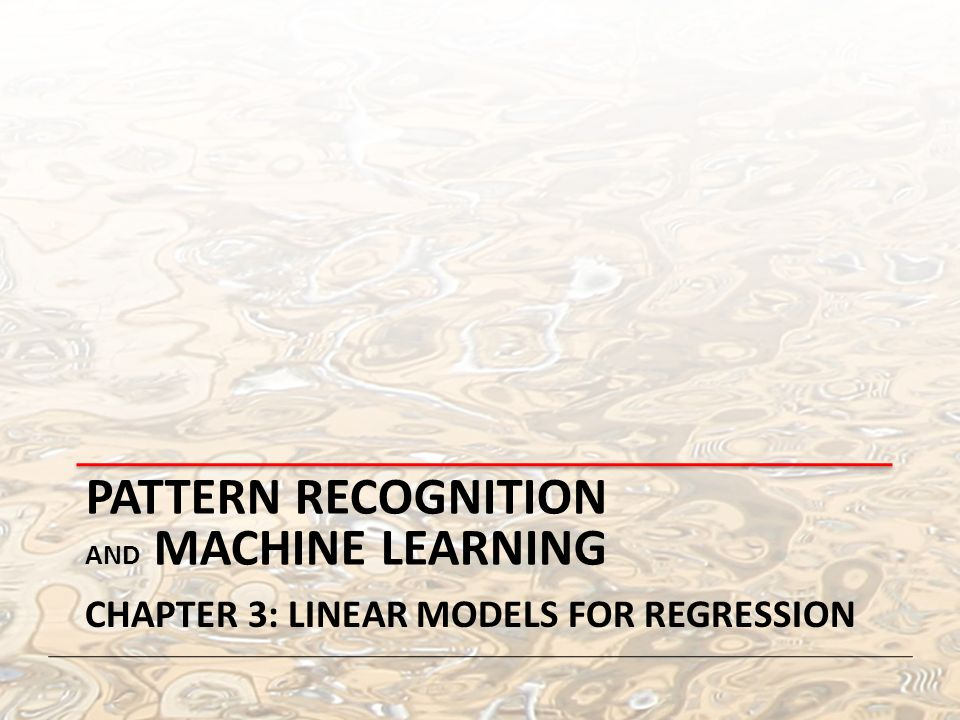 Pattern Recognition And Machine Learning Ppt Video Online Download Inspiration Pattern Recognition And Machine Learning