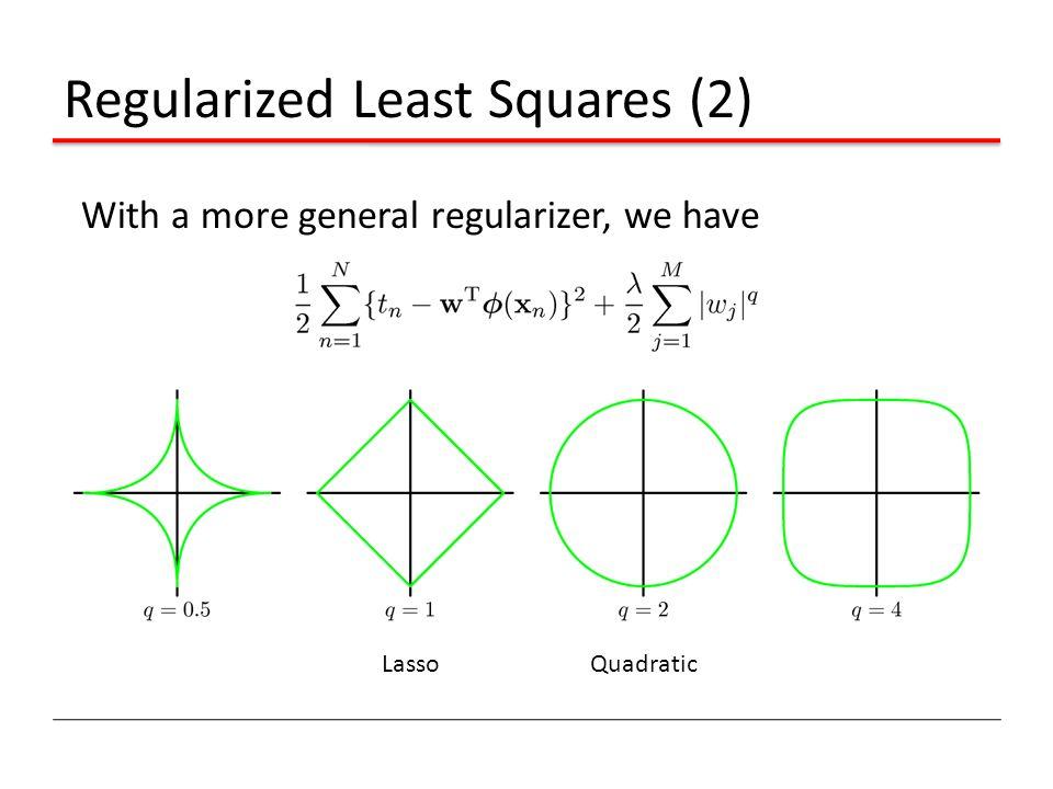 Regularized Least Squares (2)
