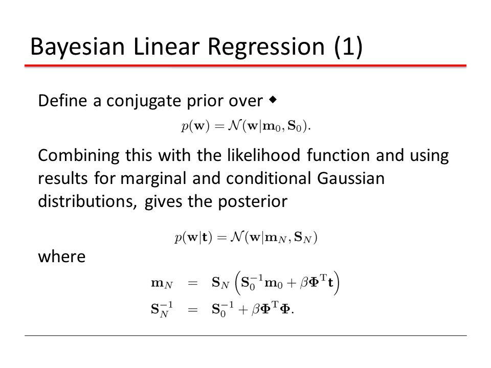 Bayesian Linear Regression (1)