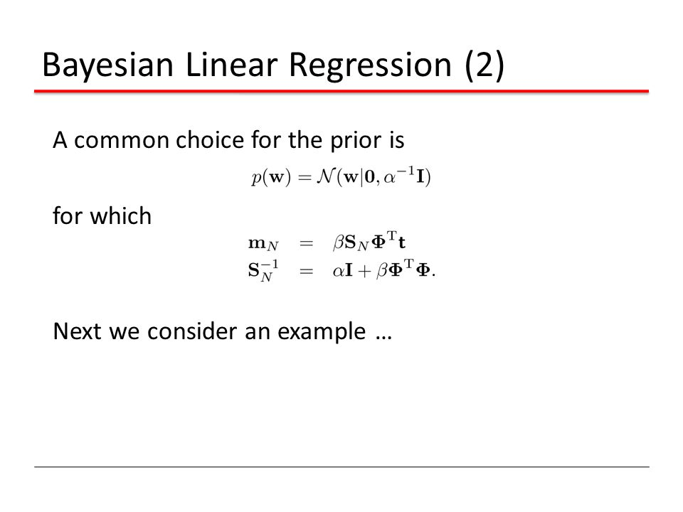 Bayesian Linear Regression (2)