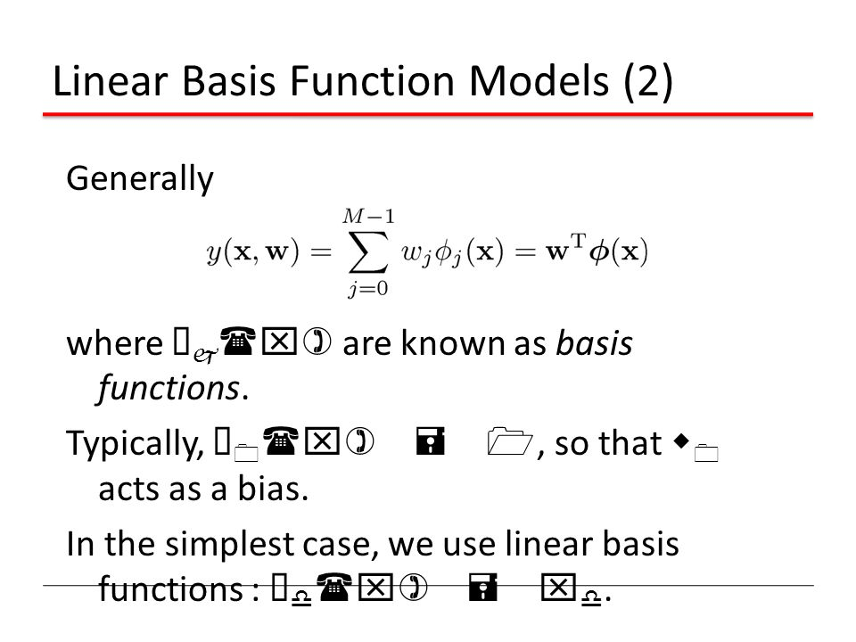 Linear Basis Function Models (2)