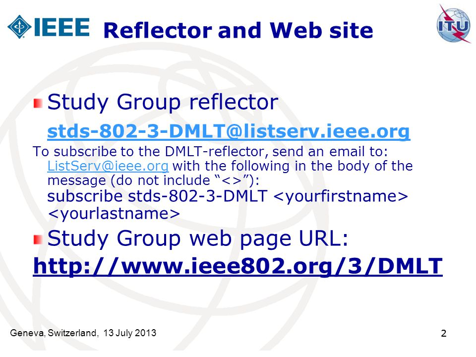 Study Group web page URL: