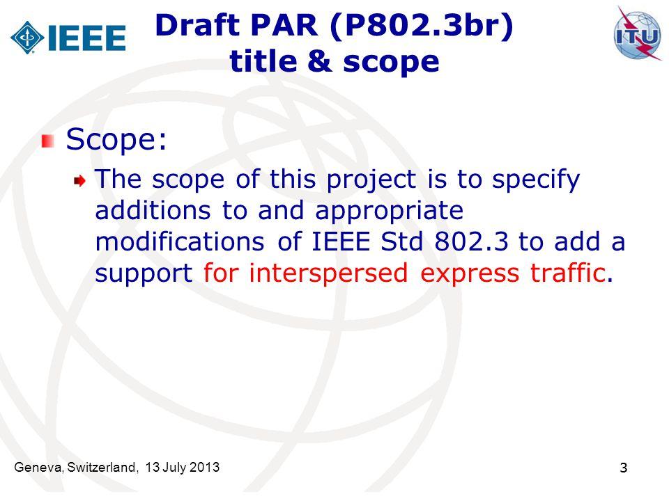 Draft PAR (P802.3br) title & scope