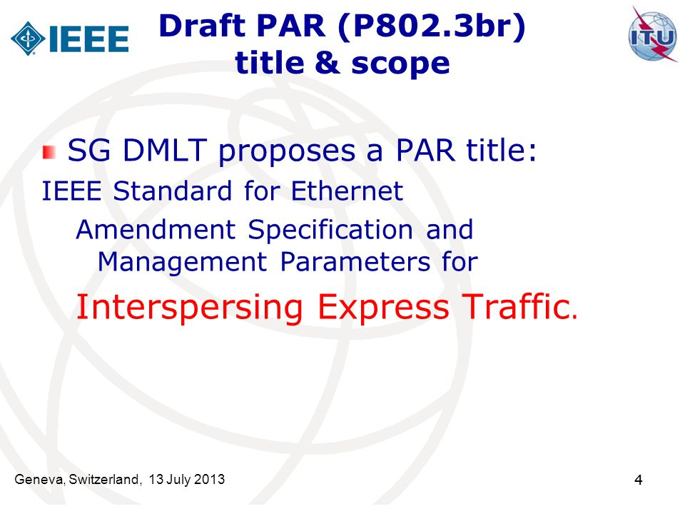 Draft PAR (P802.3br) title & scope