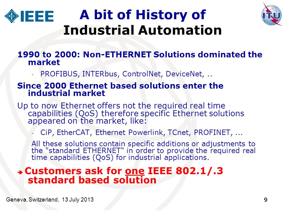 A bit of History of Industrial Automation