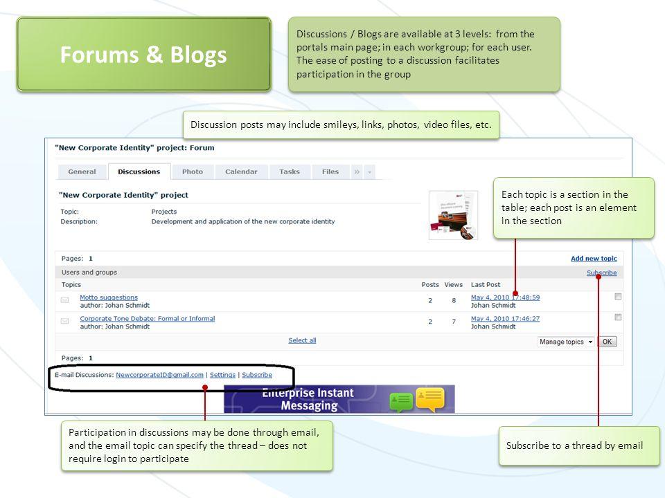Forums & Blogs