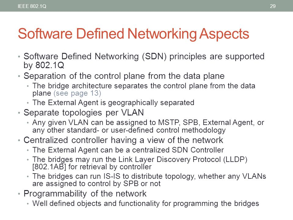 Software Defined Networking Aspects