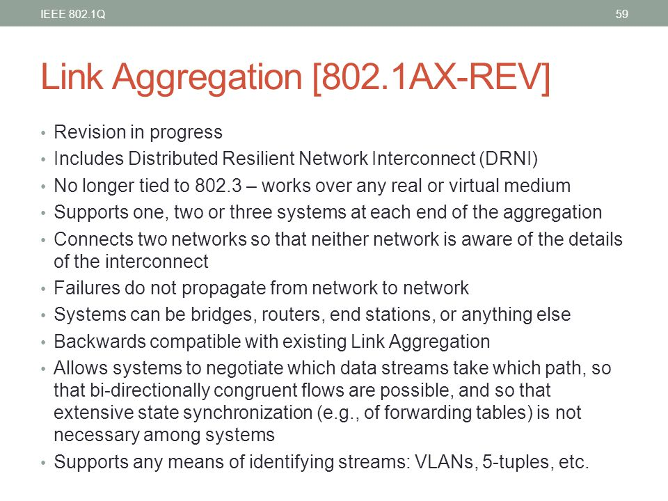 Link Aggregation [802.1AX-REV]