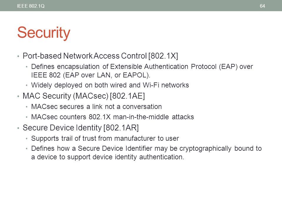 Security Port-based Network Access Control [802.1X]