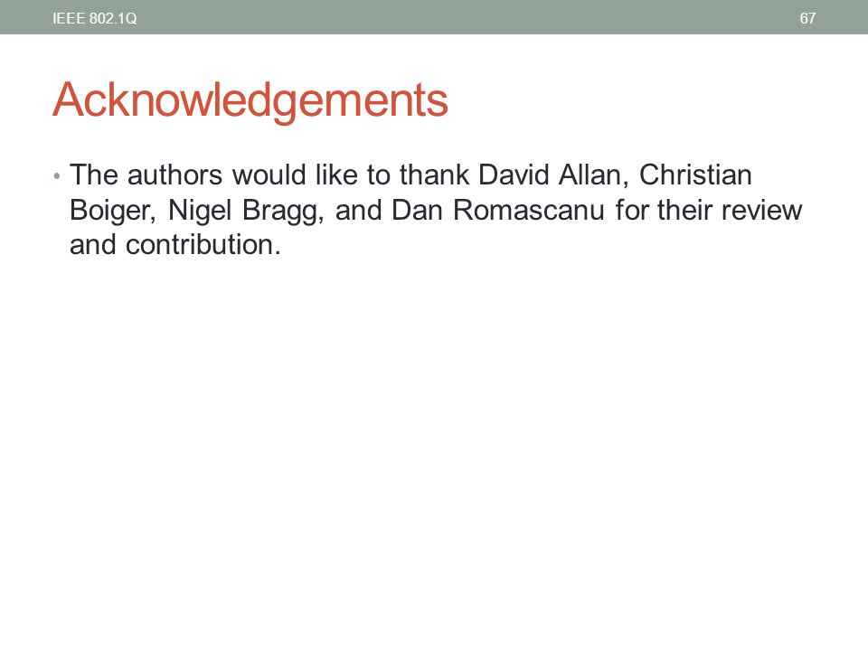 IEEE 802.1Q Acknowledgements.