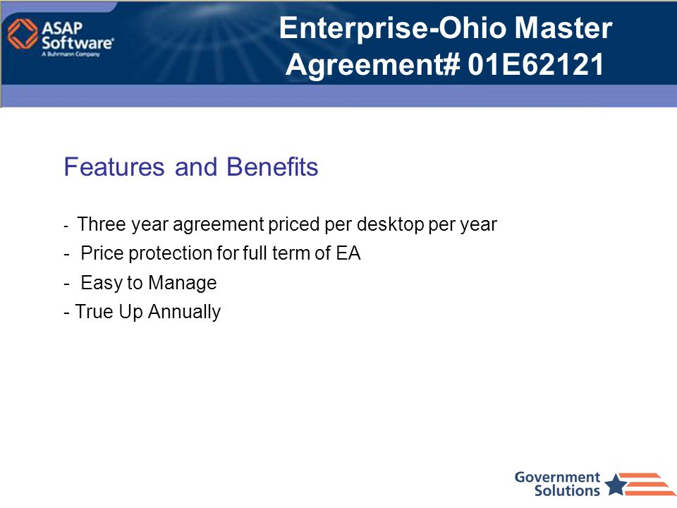 Enterprise-Ohio Master Agreement# 01E62121