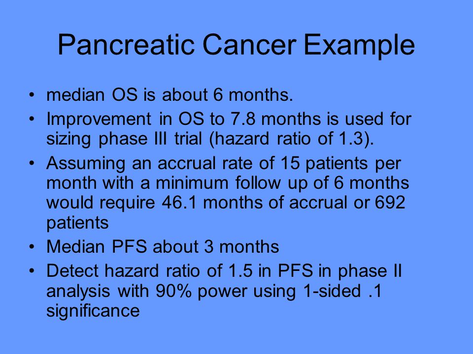 Pancreatic Cancer Example