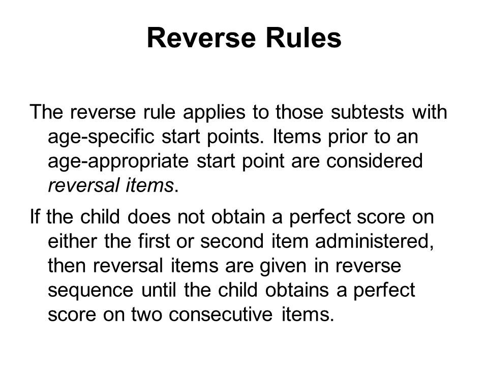 Reverse Rules