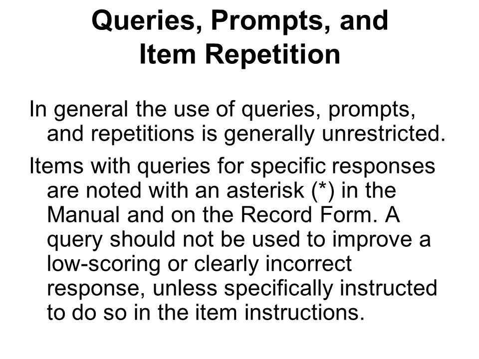 Queries, Prompts, and Item Repetition