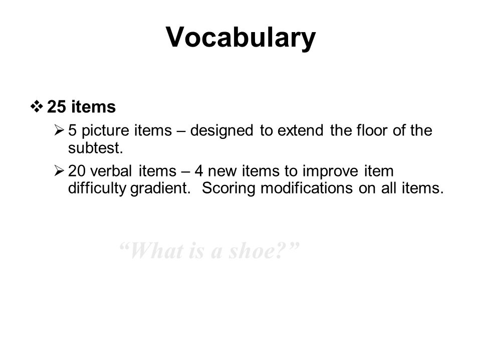 Vocabulary What is a shoe 25 items