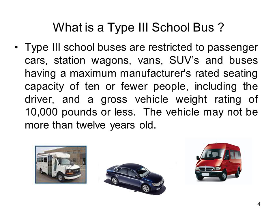 What is a Type III School Bus