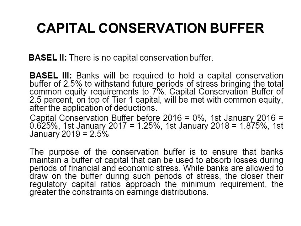 CAPITAL CONSERVATION BUFFER
