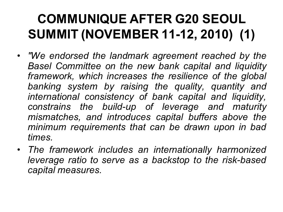 COMMUNIQUE AFTER G20 SEOUL SUMMIT (NOVEMBER 11-12, 2010) (1)