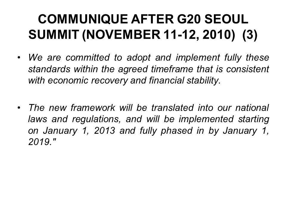 COMMUNIQUE AFTER G20 SEOUL SUMMIT (NOVEMBER 11-12, 2010) (3)