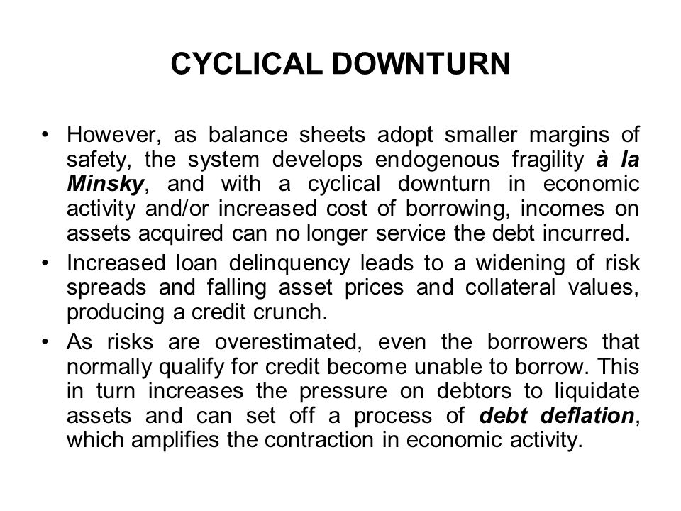 CYCLICAL DOWNTURN