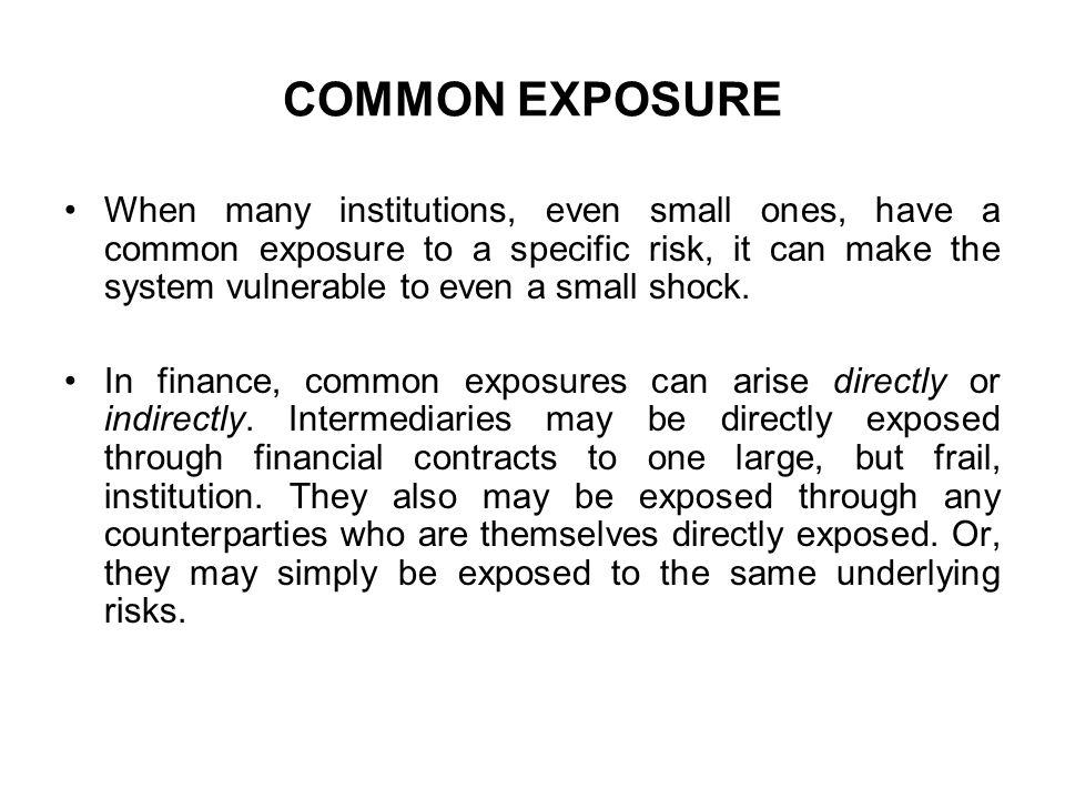 COMMON EXPOSURE