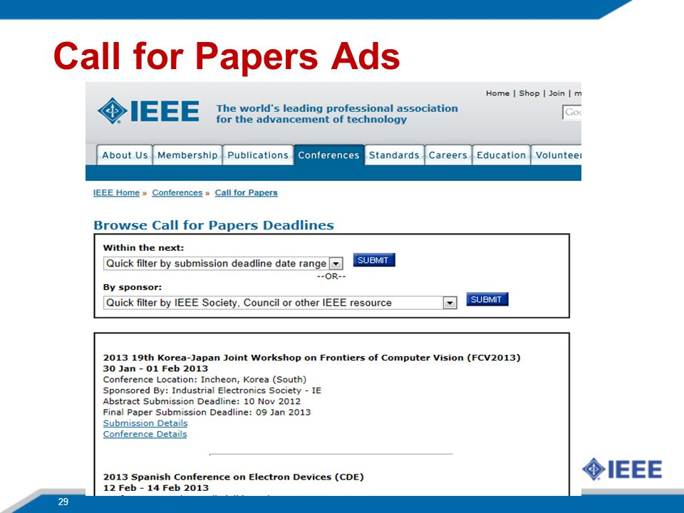 Call for Papers Ads