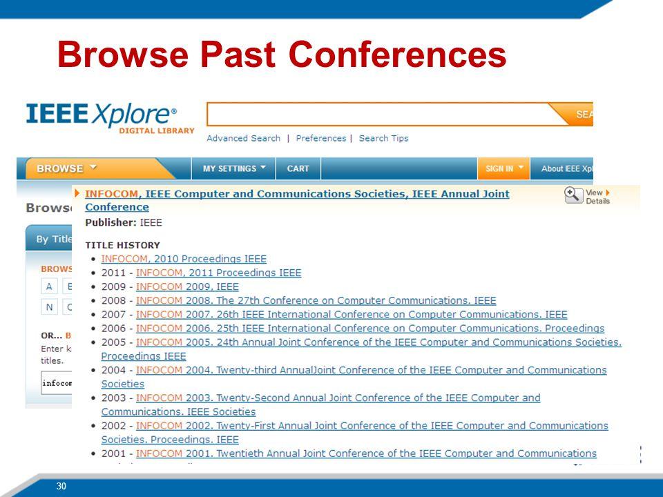 Browse Past Conferences